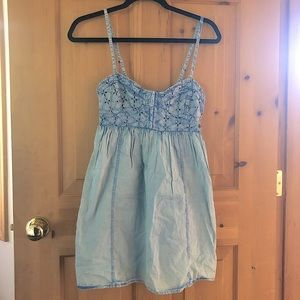 Roxy Chambray Eyelet Detail Summer Dress